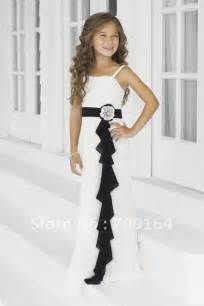 black junior bridesmaid dresses a line white chiffon dress and black sash flower dresses 2014 fb134 in flower