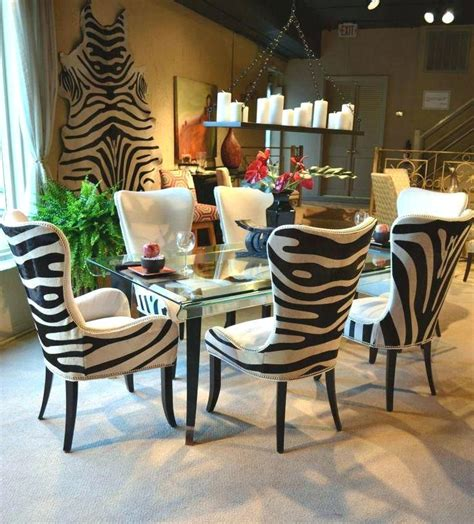 zebra dining room chairs animal print dining chairs