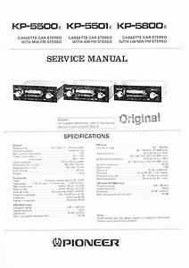 Pioneer Kp-5501 Service Manual