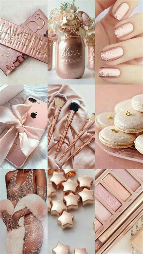 rose gold aesthetic pink  gold iphone wall