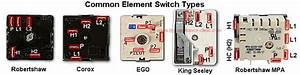 Electric Range Surface Element Switch