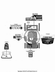 Troy Bilt Tb230 12avb2a3711  2015   12avb2a3711 Tb230  2015  Parts Diagram For Label Map