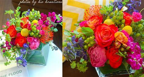 bridal shower flowers bright centerpieces naperville