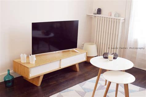 meuble cuisine bleu la déco scandinave de notre salon les petits riens