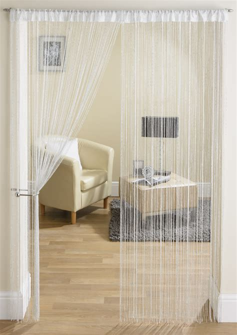 String Curtains by Glam White String Curtain From Net Curtains Direct