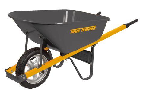 cubic foot steel wheelbarrow   flat tire true