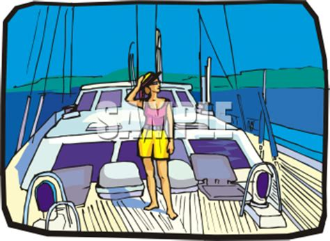 Boat Deck Clipart by Royalty Free Yacht Clipart