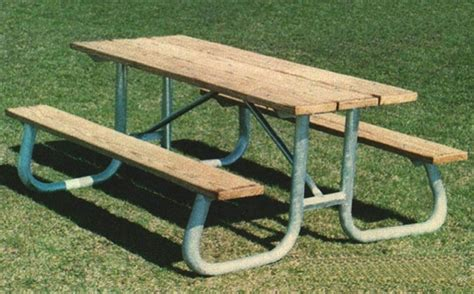 picnic table frame kit frame kit for 8 ft picnic table welded 1 5 8 quot galvanized