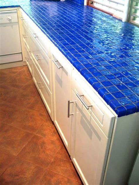 blue tile kitchen countertop d 233 cor trend 24 tile kitchen countertops digsdigs 4844