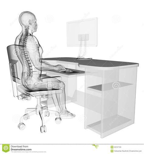 posizione seduta corretta posizione di seduta corretta illustrazione di stock