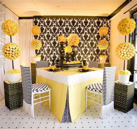 17 best images about damask yellow on yellow table wedding cakes and wedding flower