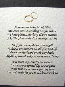20 wedding poems asking for money gifts not presents ref With how to ask for money for wedding gift