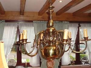 Lustre En Cuivre : a vendre lustre en cuivre mouscron 7700 ~ Teatrodelosmanantiales.com Idées de Décoration