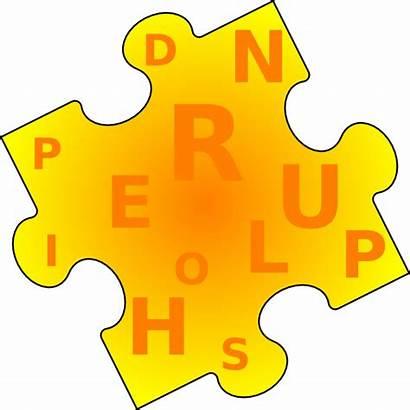 Puzzle Word Clipart Piece Clip Transparent Clker