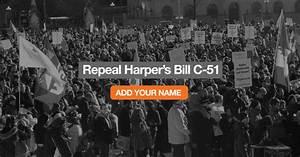 Repeal Harper's Bill C-51 ======== « Canada's NDP
