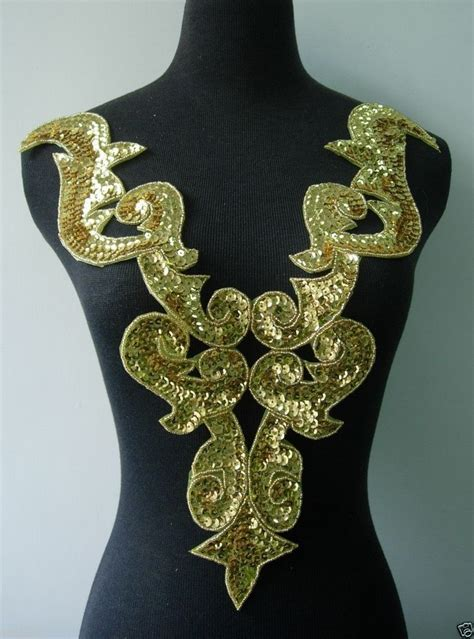 Gold Applique by Bd02 Gold Bodice Sequin Bead Applique Tutu Belly