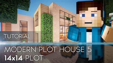 tutorial minecraft modern house  plot hd youtube