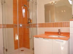 Salle De Bain Orange : mosaique salle de bain rose uteyo ~ Preciouscoupons.com Idées de Décoration