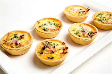 savoury canapes mini quiche the marulan general store