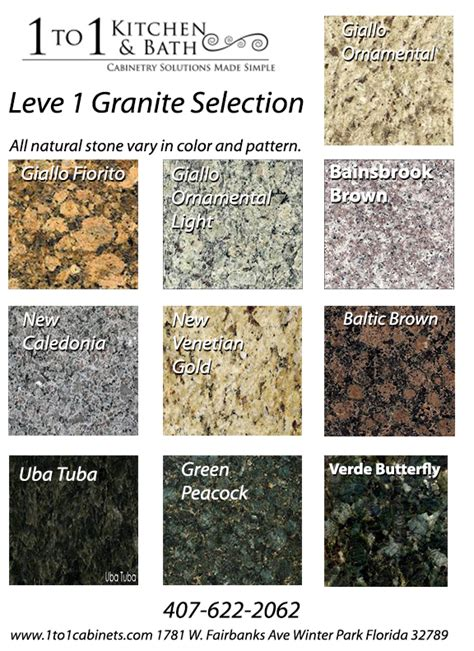 level  granite colors offered    prices www
