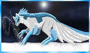 Image Gallery ice wolf with wings