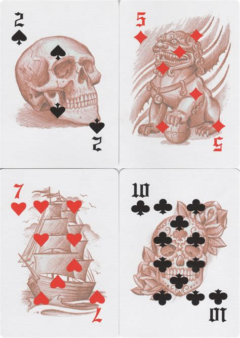 bicycle club tattoo playing cards review  collect