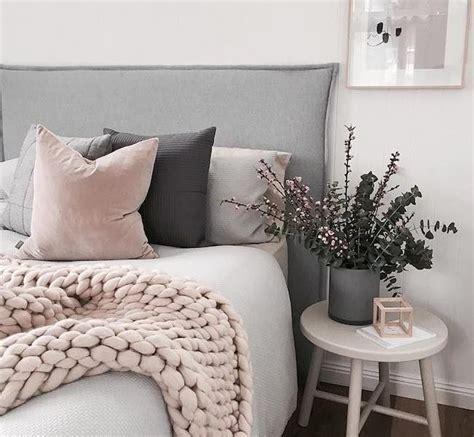 chambre grise et poudré gray and pink bedroom decor bedroom design