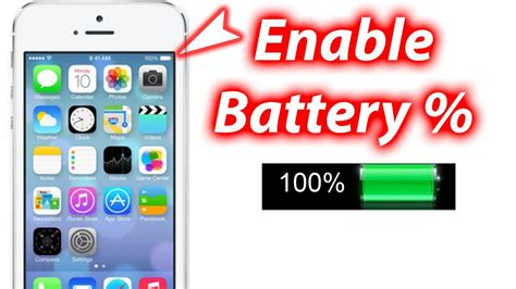 iphone battery percent how to show battery percentage ios 7 iphone 5s 5c