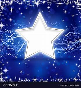 Blue silver Christmas star background Royalty Free Vector