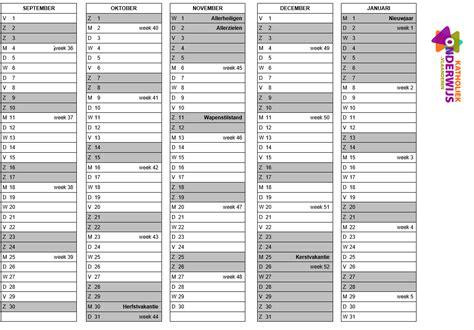 Schoolkalender 2017-2018 En 2018-2019 Online