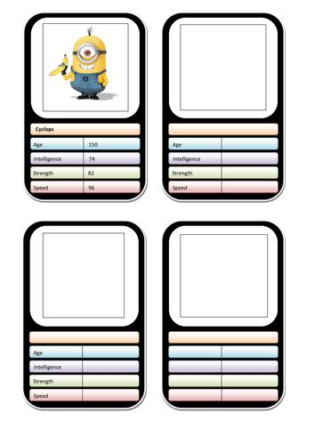 top trumps template clipart