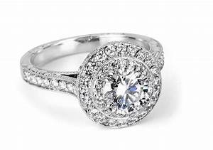 diamond engagement ring with pave channel set platinum With big expensive wedding rings