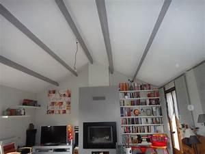agreable peindre des poutres en bois 7 de la With peindre des poutres au plafond