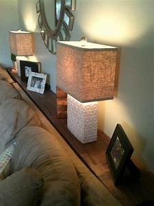 sofa table for lamps behind couch casa pinterest With sofa table between couch and wall