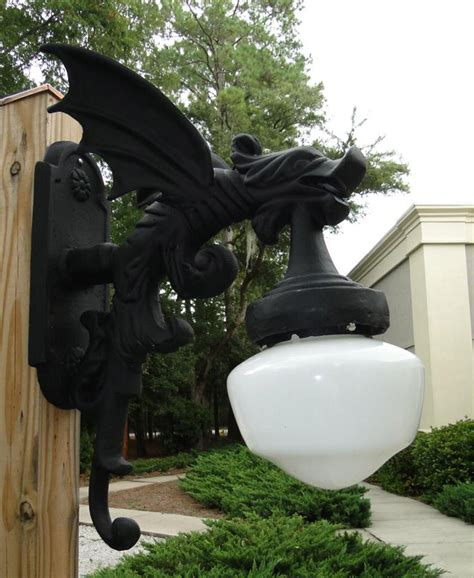 outdoor wall light sconce fixture antique style gargoyle