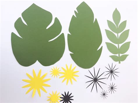 paper leaf template large paper flowers diy templates and ready to ship paperflora