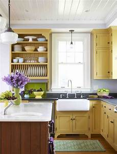 My favorite kitchens of 2010 stacystyle39s blog for Kitchen colors with white cabinets with sunset metal wall art
