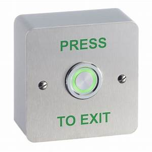 SSP Illuminated piezo single gang surface mount exit ...