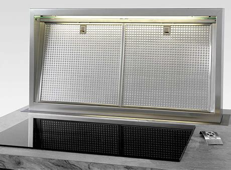 Downdraft vent with 50 inch rise