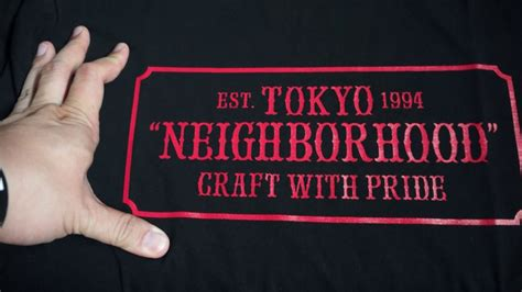 neighborhood japan nbhd ss red box logo tee unboxing