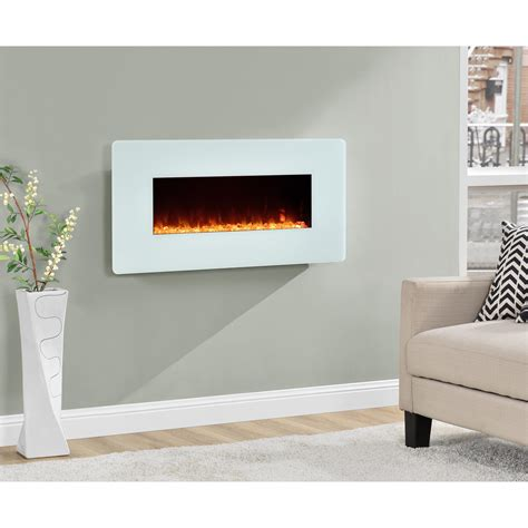 dorel kenna white  wall mount fireplace