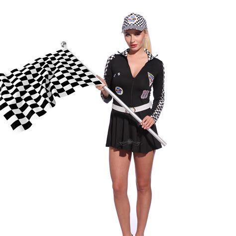 Sexy Women Grid F1 Grand Prix Super Car Racer Racing Driver Fancy Dress Outfit | eBay