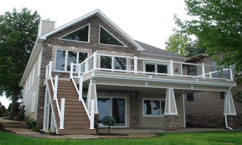 lake home house plan  sf ranch blueprints  lake house plans walkout basement lake home