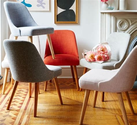 hemp fabric dining chair ideas for mid century dining