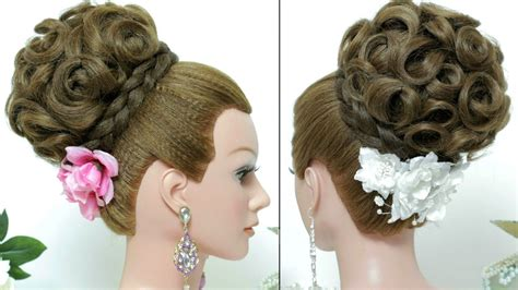 bridal hairstyle updo for hair tutorial youtube