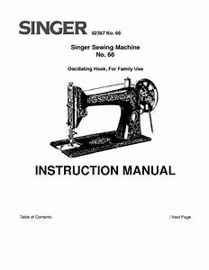 Singer 66 Sewing Machine  Embroidery  Serger Owners Manual