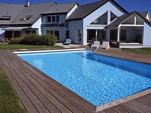 amenagement tour piscine amenagement autour piscine bois With amenagement autour de la piscine 6 galerie photos tour de piscine jardin mineral bassin