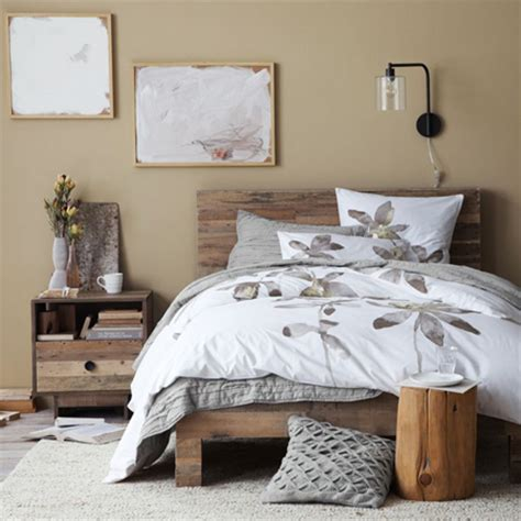 west elm emmerson bed home dzine bedrooms build a bed with reclaimed timber or