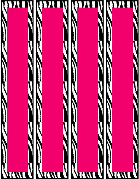 pink zebra birthday party food cards printables