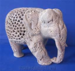 Limestone Sinks by Hand Carved Soapstone Elephant With Baby Inside Statue